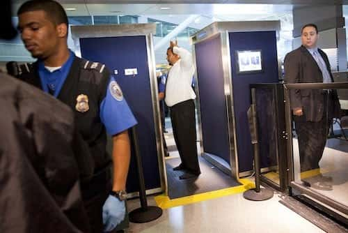 Napolitano Inspects New Advanced Imaging Technology Scanners At JFK Airport