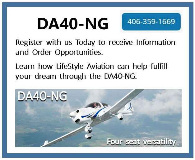 Diamond DA40-NG - Register with Us